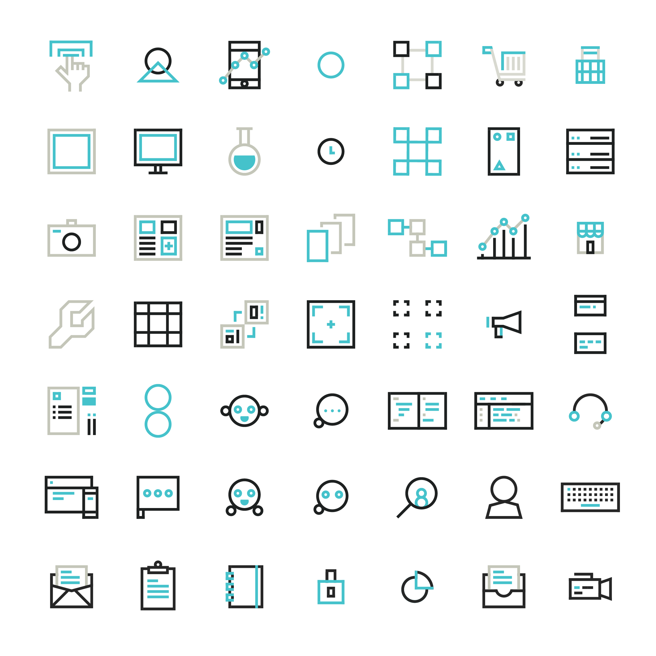 Underground Web Lab Icons
