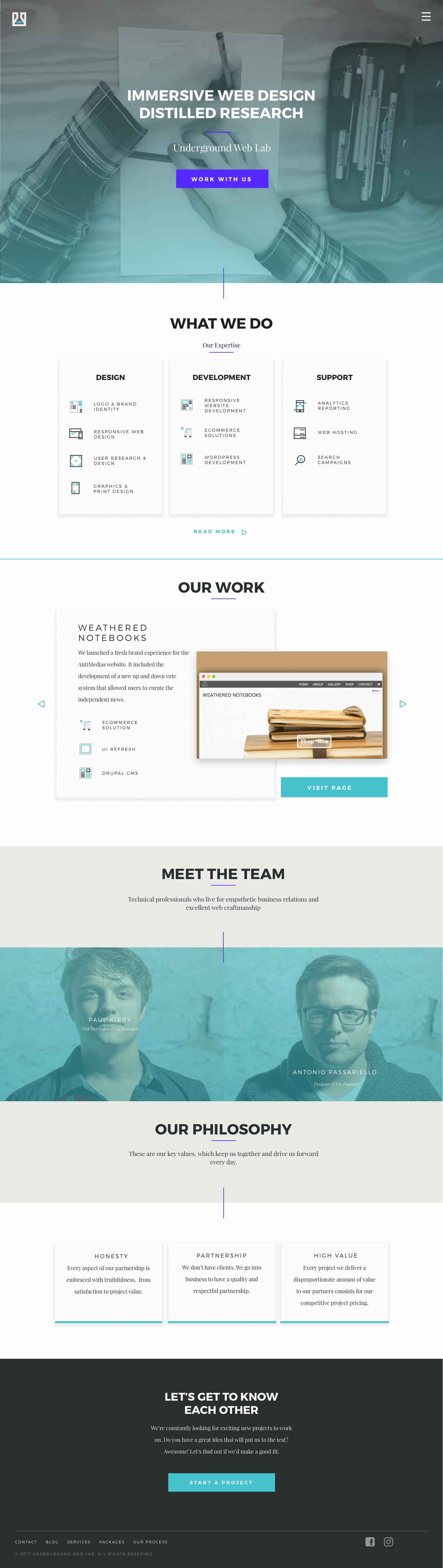 UWL – Landing Page Desktop