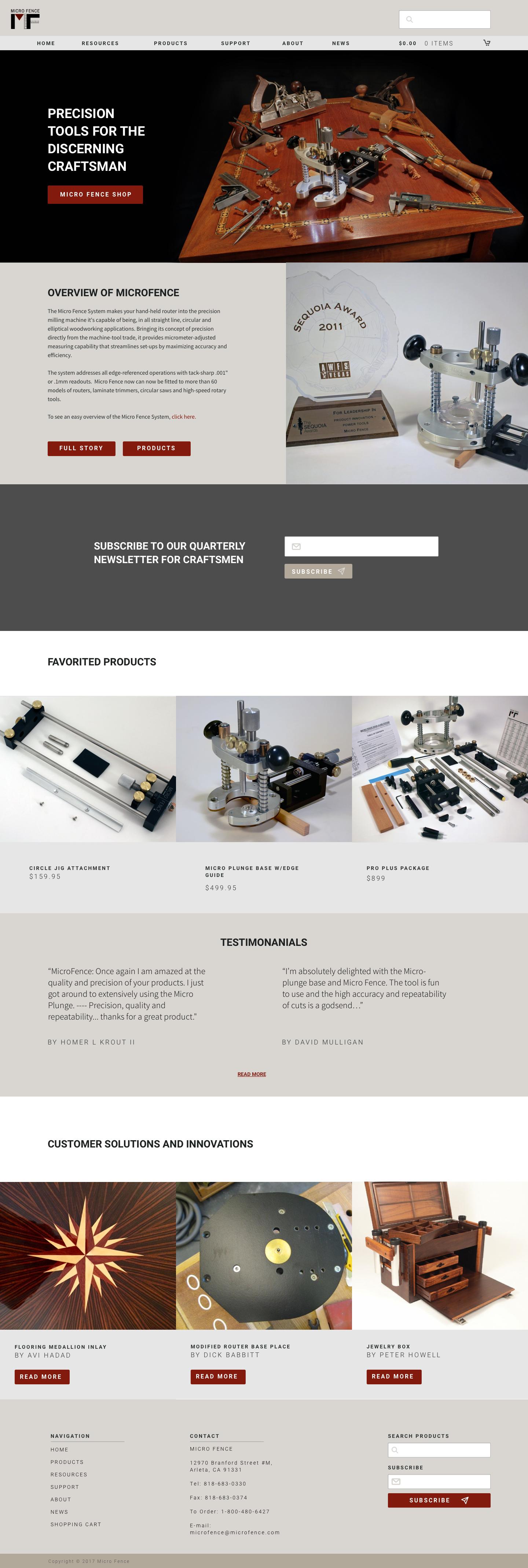 MicroFence Landing Page