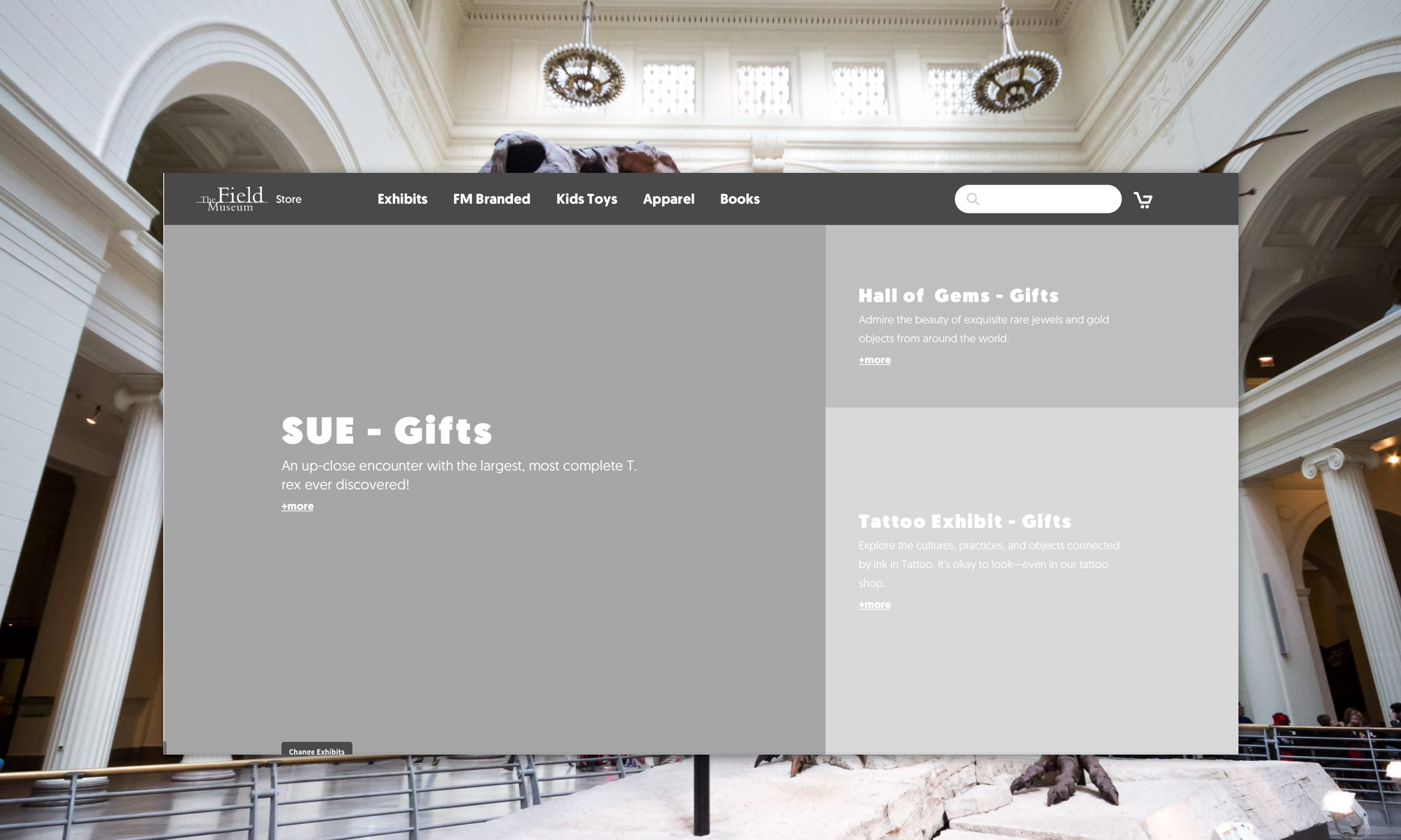 Field Museum E-Commerce Redesign