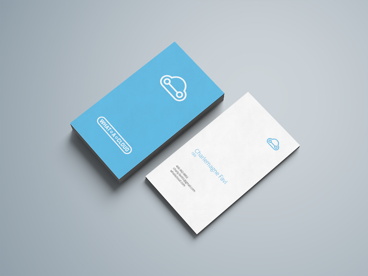 What A Cloud Business Card